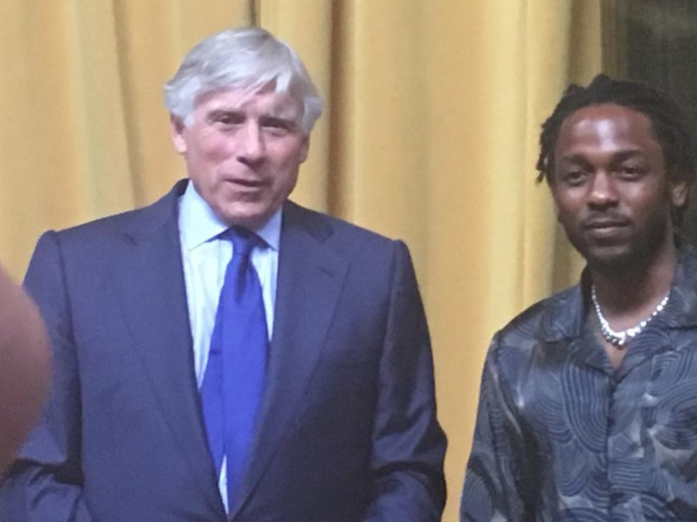 Lamar, tras recibir su Pulitzer este miércoles en Nueva York.