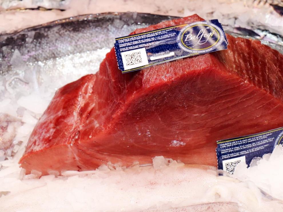Un lomo de atún rojo.