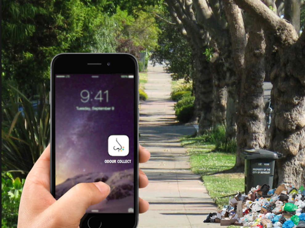 Mediante la app, los ciudadanos pueden registrar un nuevo olor en tiempo real y allá donde se encuentren