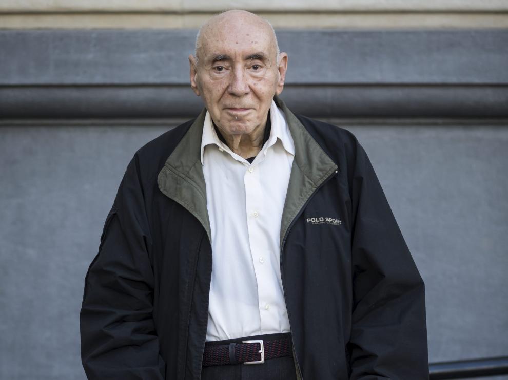 José Luis López Zubero, la pasada semana en Zaragoza.