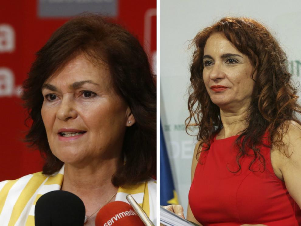 Carmen Calvo y María Jesús Montero