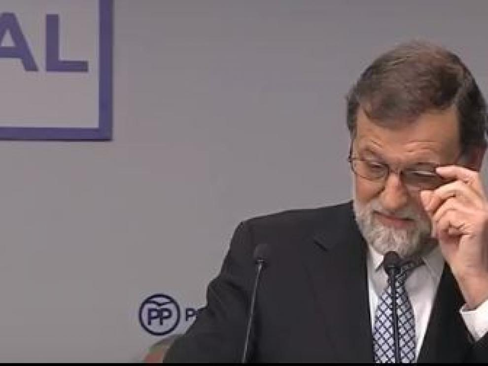 Rajoy dimite como presidente del PP
