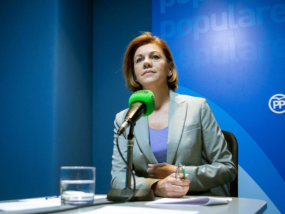 María Dolores de Cospedal anunciará hoy si opta a la presidencia del PP.