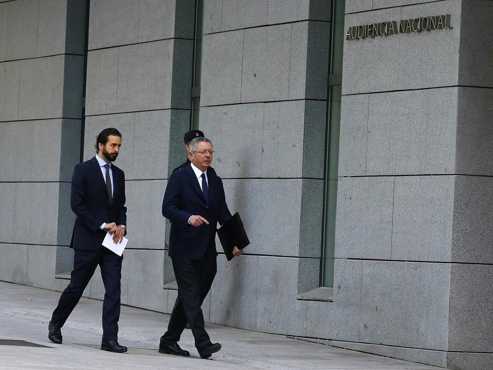El expresidente madrileño ha llegado esta mañana para declara ante la Audiencia Nacional