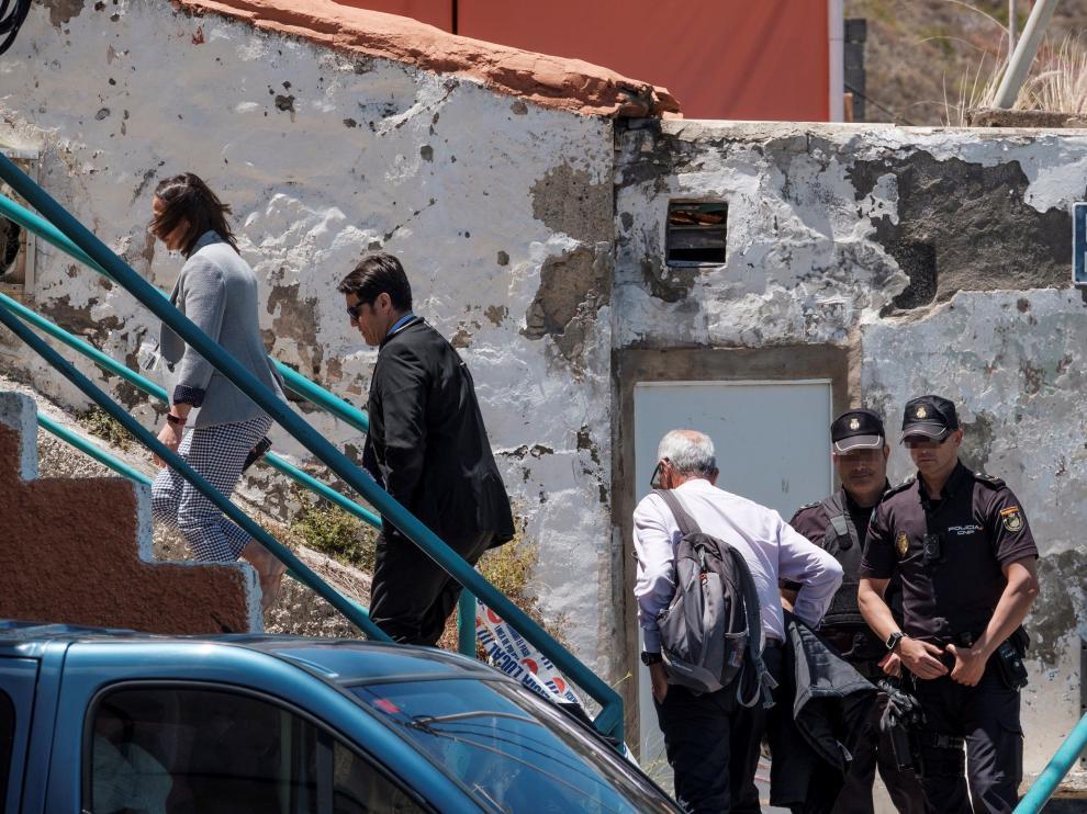 Vivienda de Las Palmas de Gran Canaria en la que se ha encontrado el cuerpo de la mujer tras la explosión