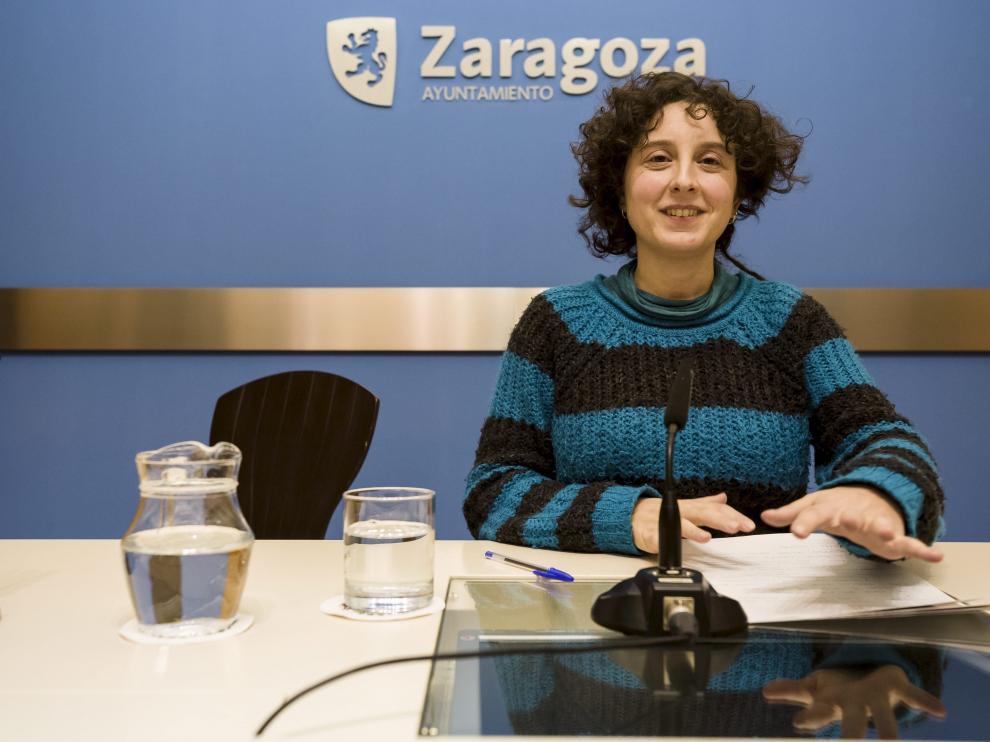 Arantza Gracia, vicepresidenta de IMEFEZ y concejala de Educación e Inclusión, en una imagen de archivo.