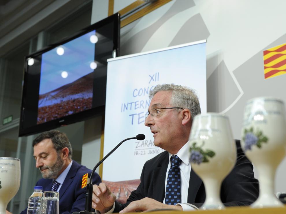 El consejero de Desarrollo Rural, Joaquín Olona, en la presentación del Congreso del Terroir