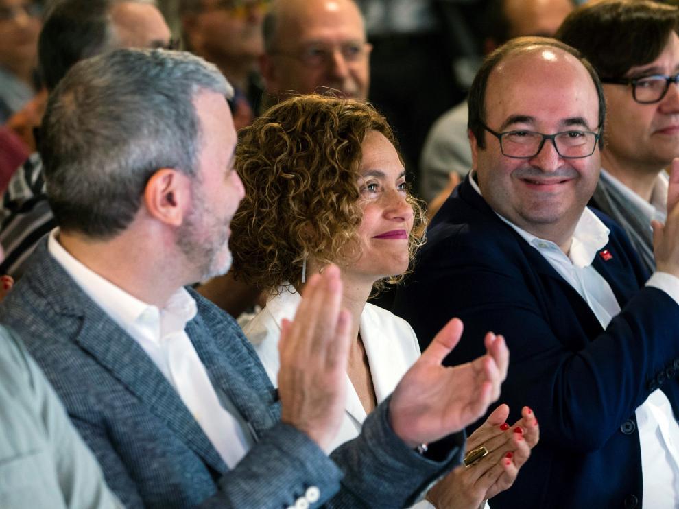 Batet junto a Iceta en un acto en Barcelona