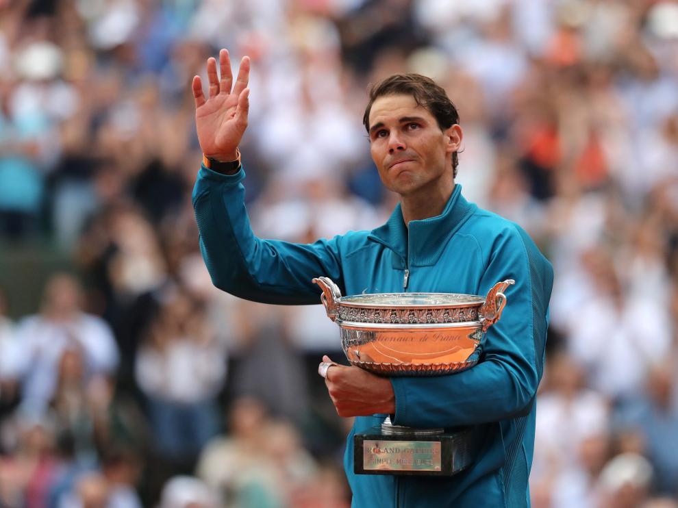 Imagen de archivo de Rafa Nadal en la final del Roland Garros.