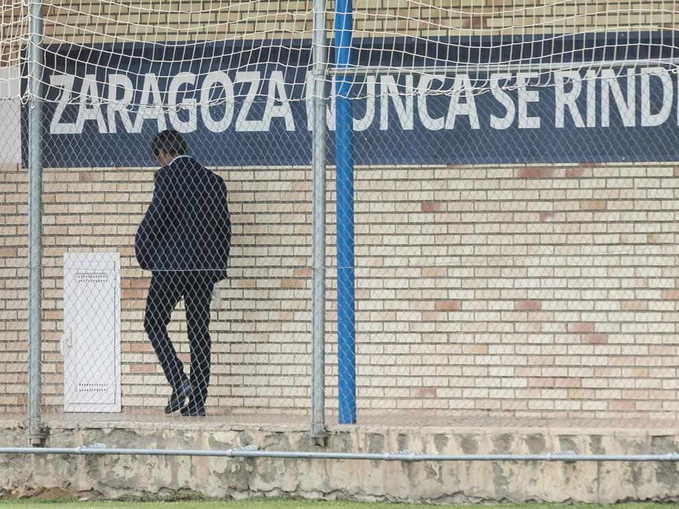 Natxo González, ayer en la Ciudad Deportiva del Real Zaragoza. oliver duch