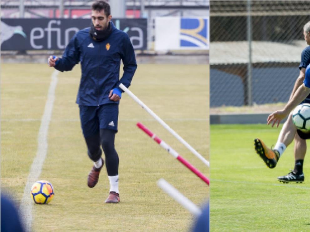 Borja Iglesias y Daniel Lasure, en la Ciudad Deportiva