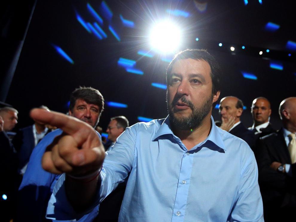 Mateo Salvini, viceprimer ministro, no ha permitido que el Aquarius llegase a Italia .