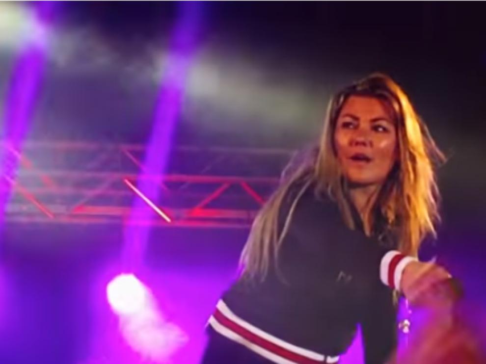 Amaia Montero en el concierto de presentación de la gira de su nuevo disco 'Nacidos para creer'