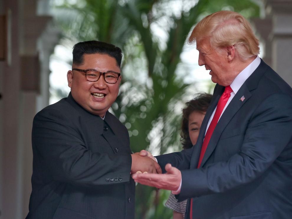 Donald Trump y Kim Jong-un reunidos por primera vez