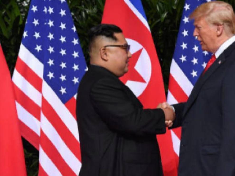 Donald Trump y Kim Jong-un cuando se reunieron por primera vez.