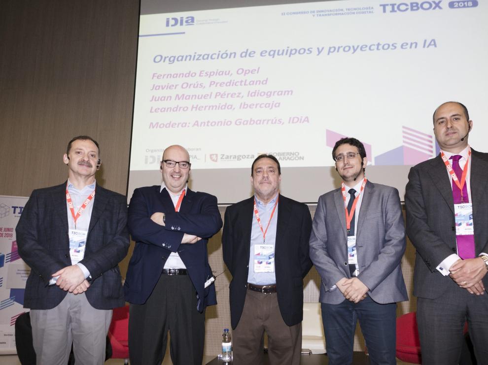 Fernando Espiau, Javier Orús, Antonio Gabarrús, Juan Manuel Pérez y Leandro Hermida.