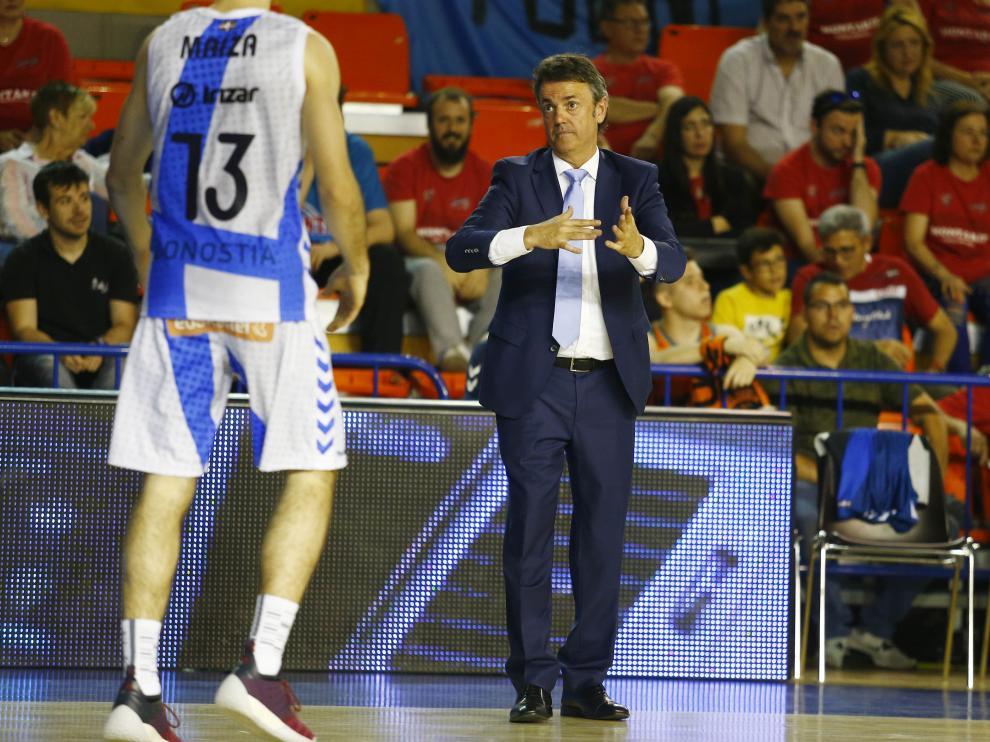 Porfirio Fisac, en su último partido con el Gipuzkoa Basket.