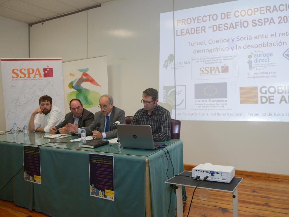 Reunión informativa sobre la SSPA celebrada recientemente en Teruel.