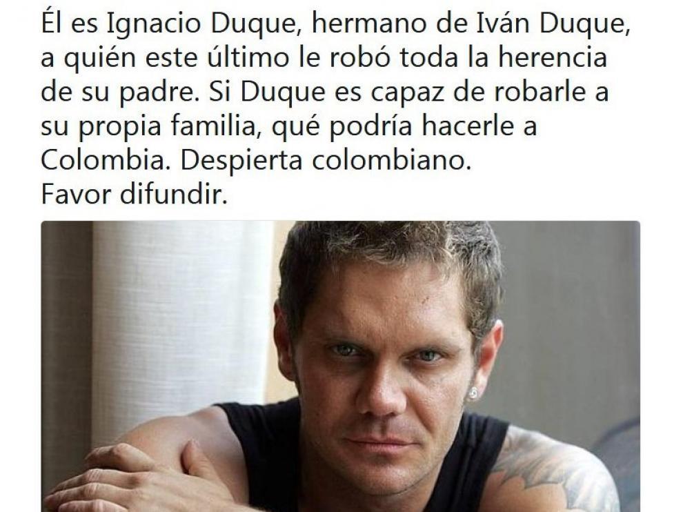 Algunas noticias falsas relacionaban al español Nacho Vidal con Iván Duque.