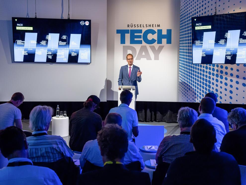 Michael Lohscheller, presidente y consejero delegado de Opel, en una sesión del 'Tech Day', en Rüsselsheim (Alemania)