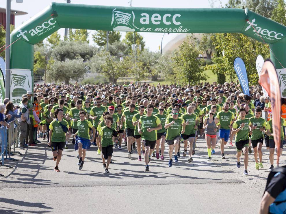 V Marcha contra el Cáncer, de 5 kilómetros, en Zaragoza.