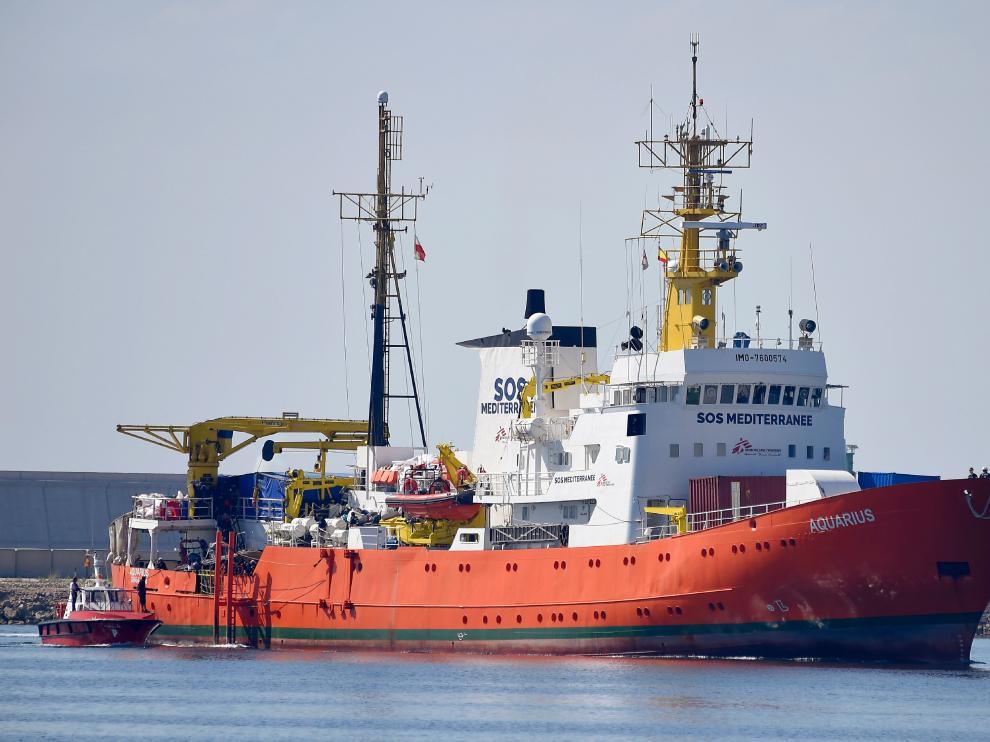 El barco Aquarius en una imagen de archivo.
