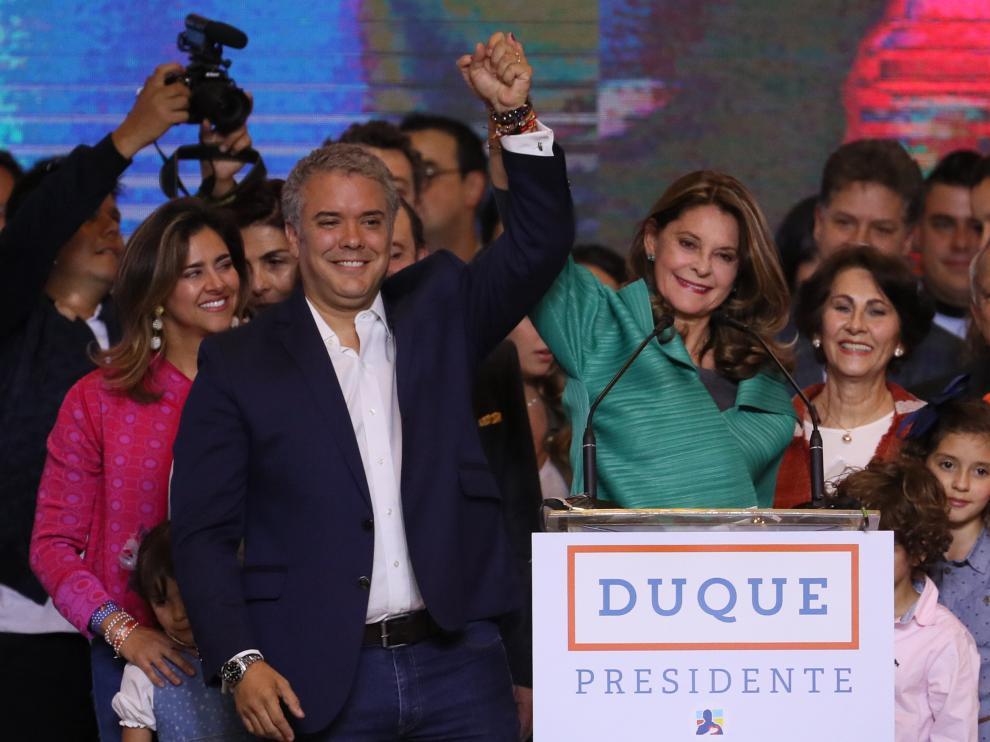 El nuevo presidente de Colombia, el uribista Iván Duque