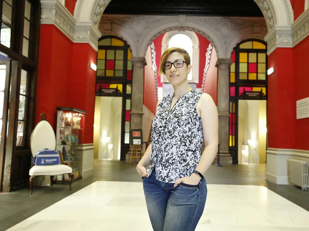 Ana Serrano, una joven ingeniera de la UZ, premiada con 50.000 dólares por su investigación en realidad virtual