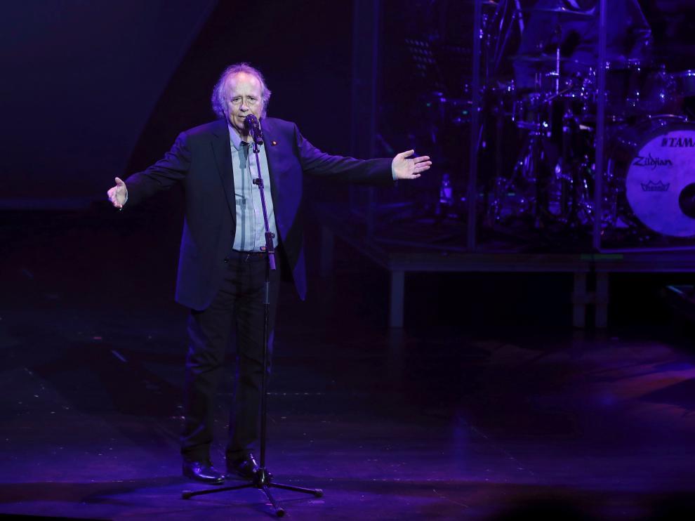 El cantante Joan Manuel Serrat, en un concierto celebrado en Pamplona el pasado día 9.