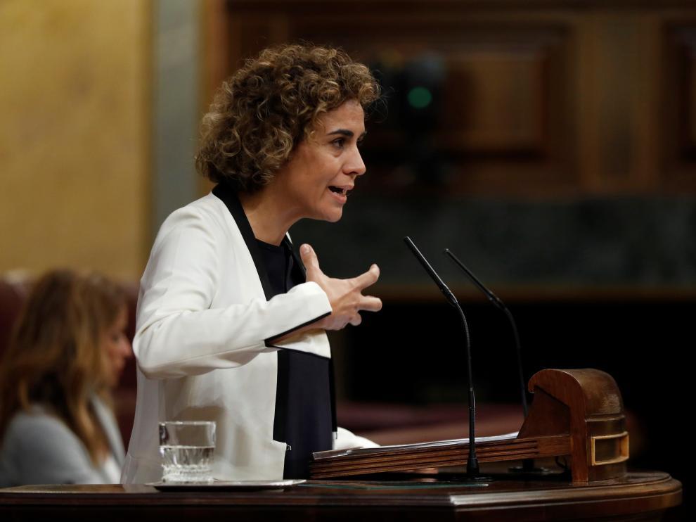La portavoz del Grupo Popular en el Congreso, Dolors Montserrat