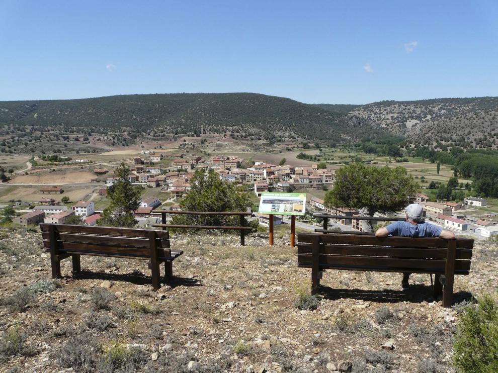 Mirador de Los Casares, en Royuela, en la comarca de Sierra de Albarracín