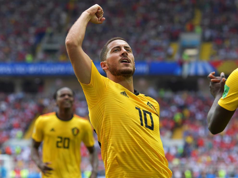 Hazard celebra un gol.