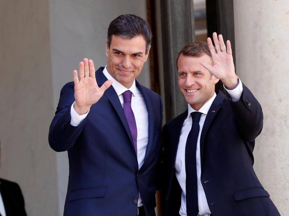 Sánchez y Macron se han visto las caras este sábado.