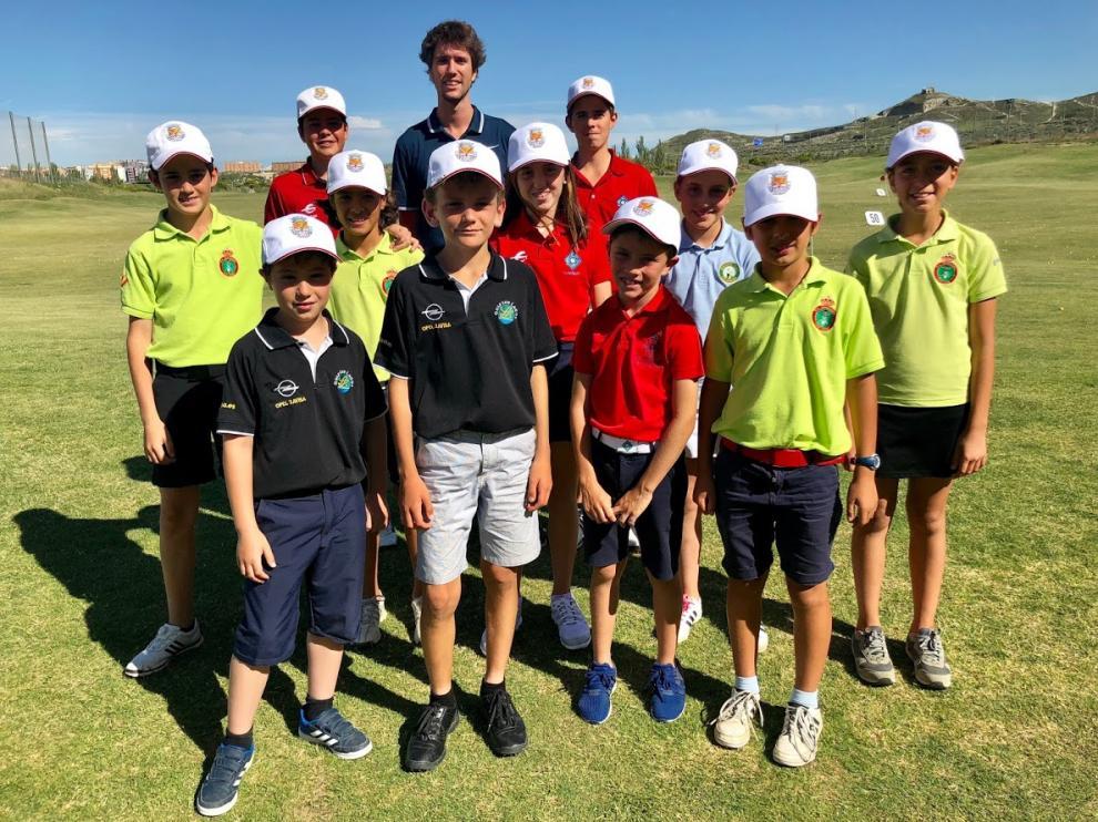 La selección aragonesa ya entrena en el Real Golf La Manga Club