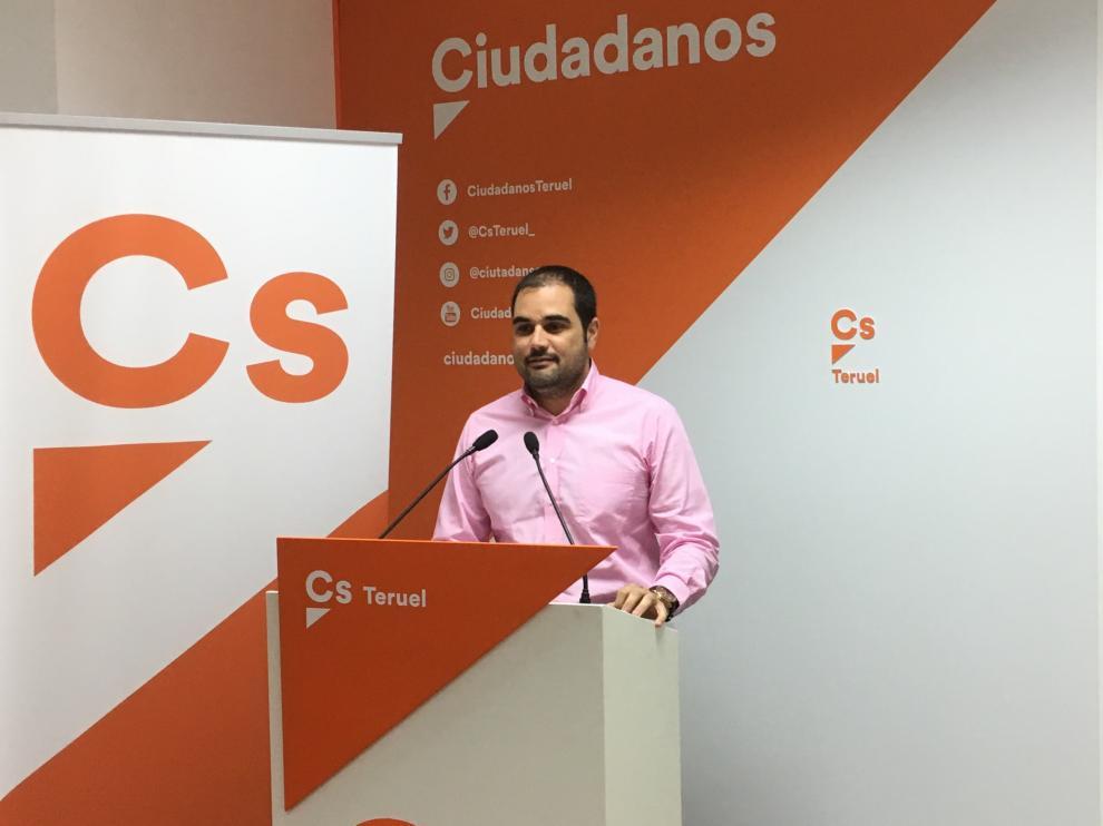 El diputado al Congreso por Ciudadanos Rodrigo Gómez.