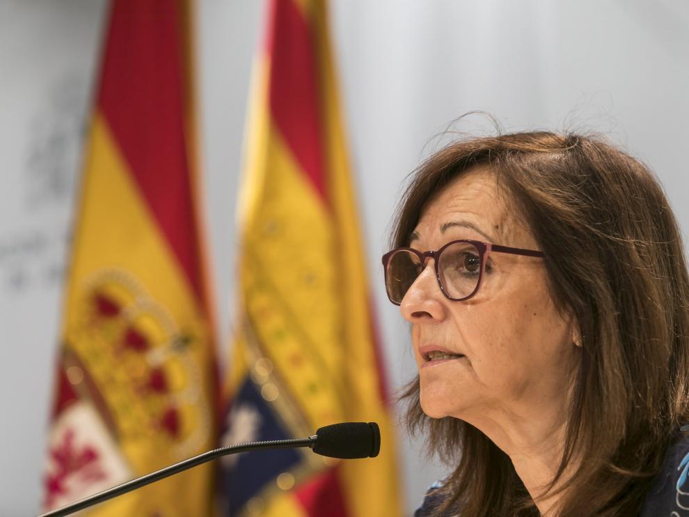 Carmen Sánchez, delegada del Gobierno de Aragón.