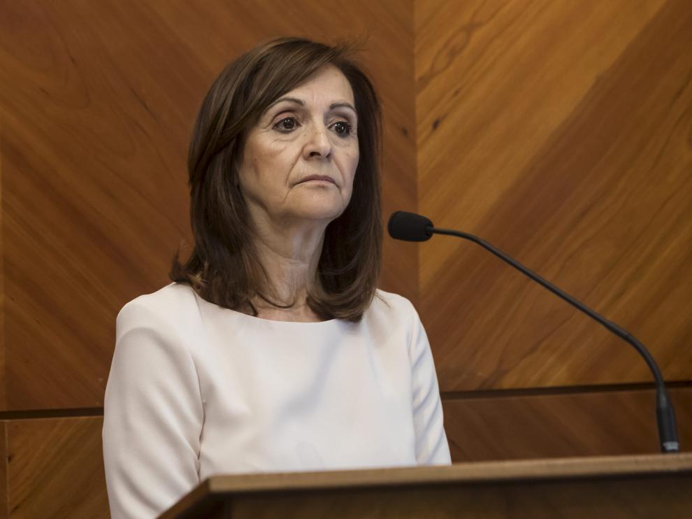 La delegada del Gobierno, Carmen Sánchez, en su toma de posesión, el pasado jueves.