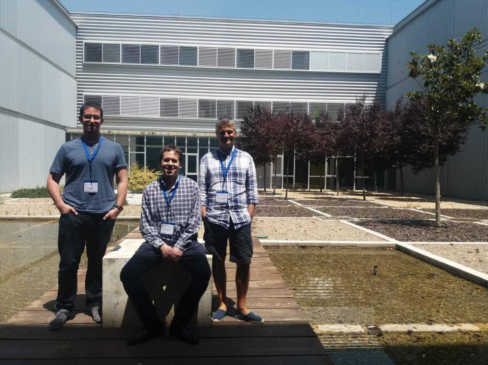 Martínez, Nogueras y Cachelas, en el Campus Río Ebro de la Universidad de Zaragoza