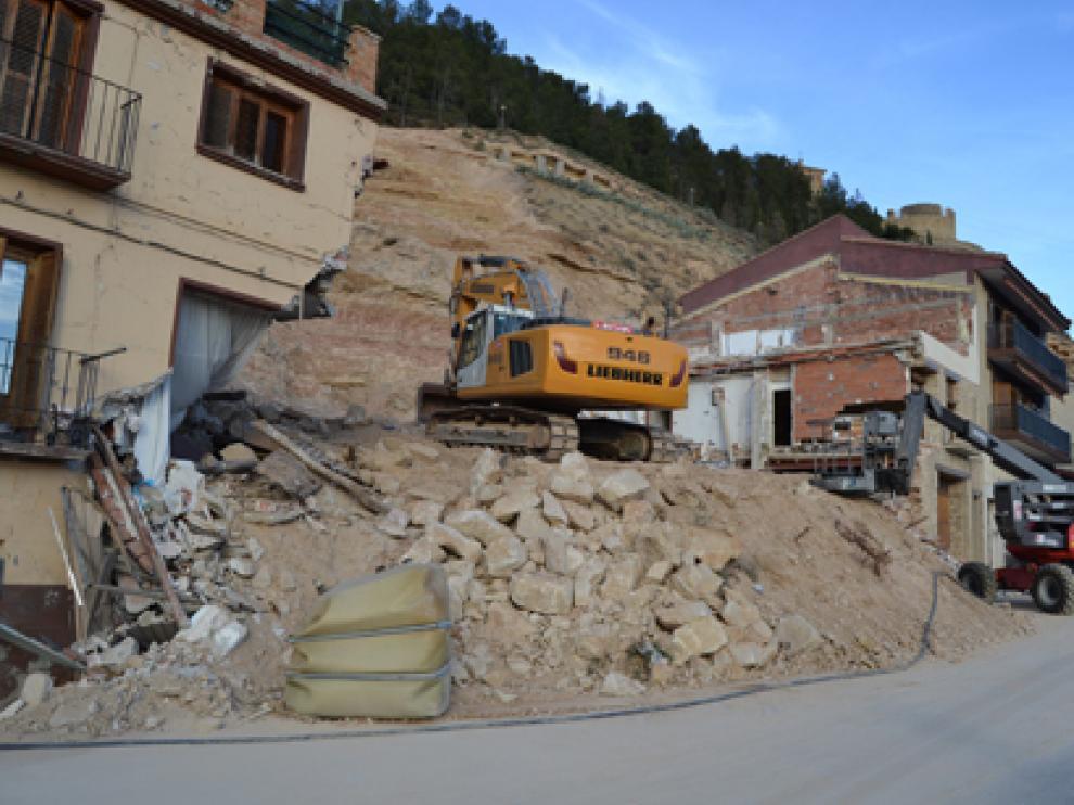El derrumbe del cerro de Pui Pinós se produjo en abril del año pasado.