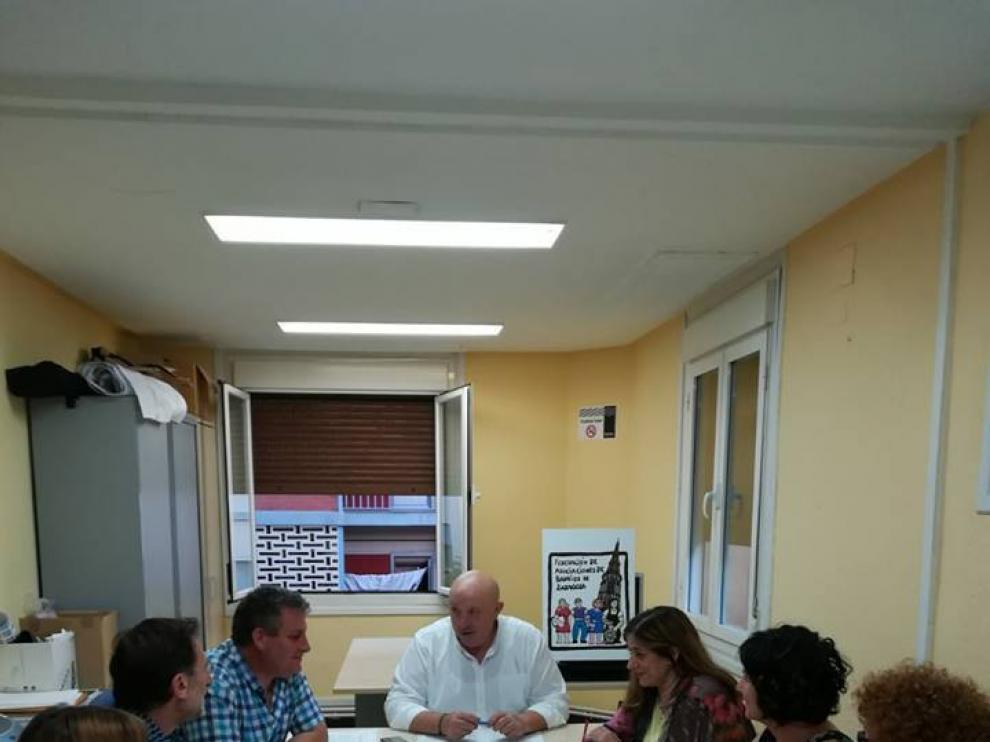 Reunión de los integrantes del secretariado de la FABZ para tratar los presupuestos participativos