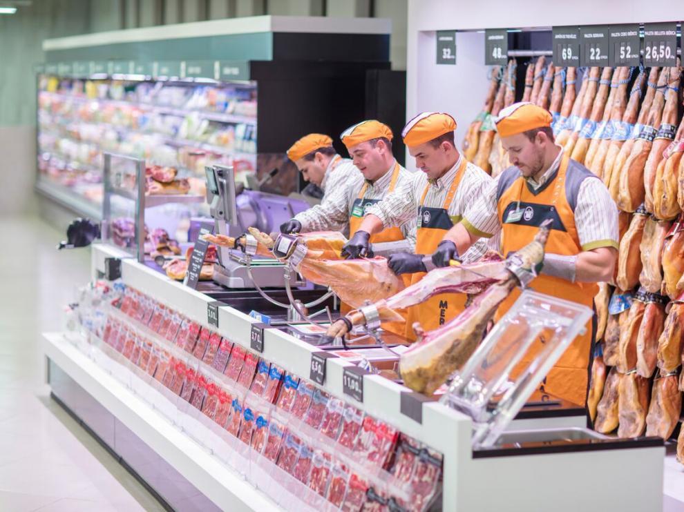 Sección de carne del Mercadona