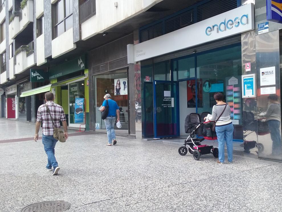 Oficina de atención al cliente de Endesa en Zaragoza.