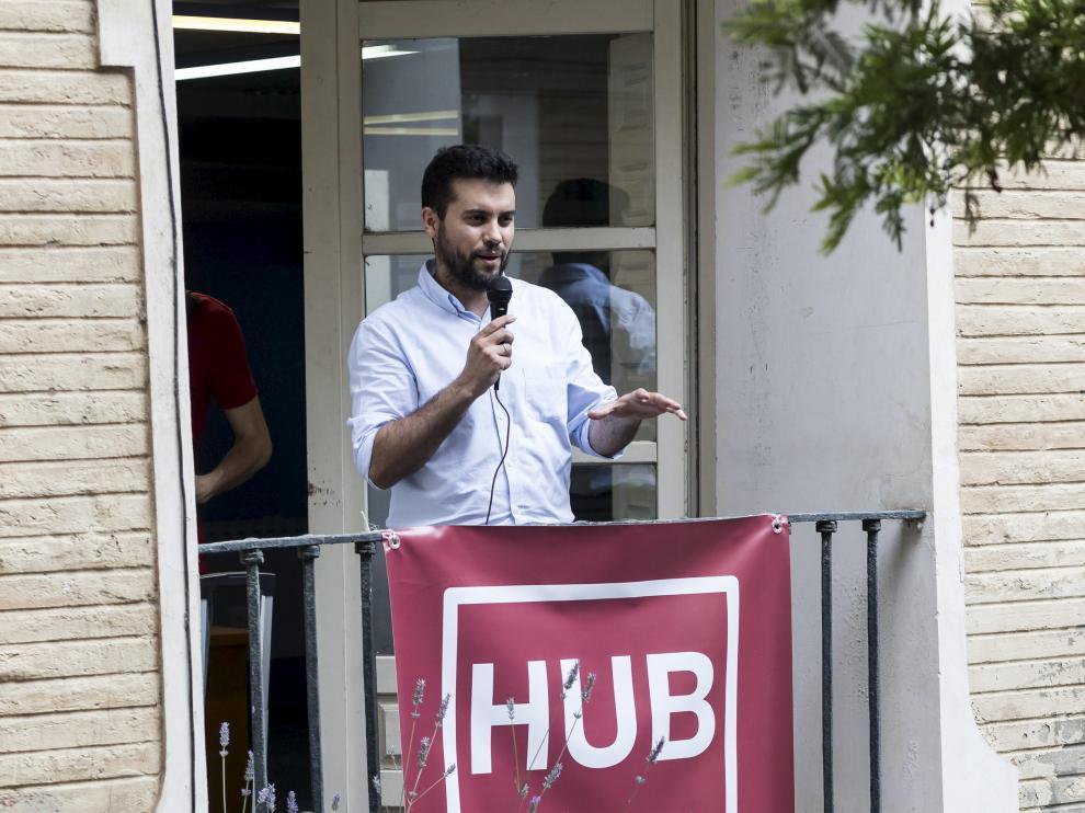 Félix A. Tena, impulsor de Hub ZGZ, en la presentación del espacio
