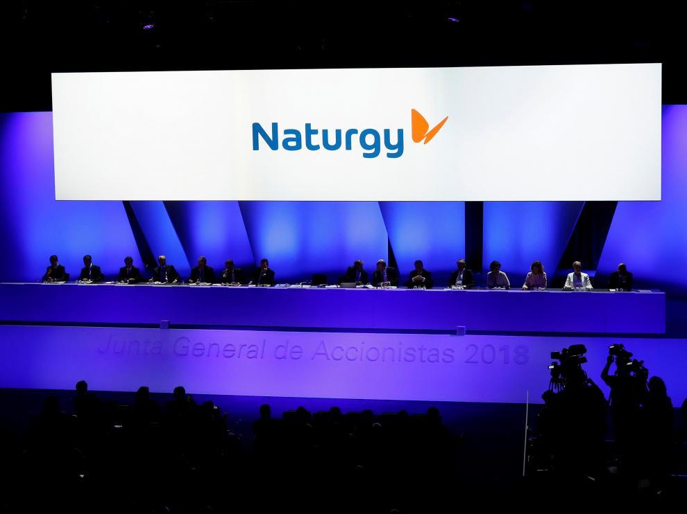 Junta General de Accionistas de Gas Natural Fenosa, que este miércoles ha adoptado un nuevo nombre.