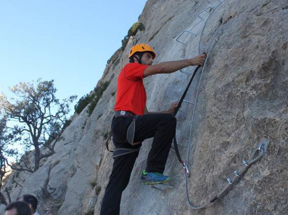 La via ferrata de Sierra Palomera es una de las actividades.