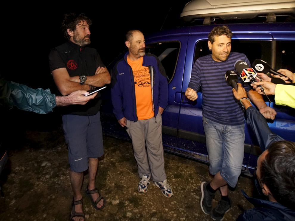 Rescatados los tres espeleólogos atrapados en una cueva de la Sierra de Albarracín
