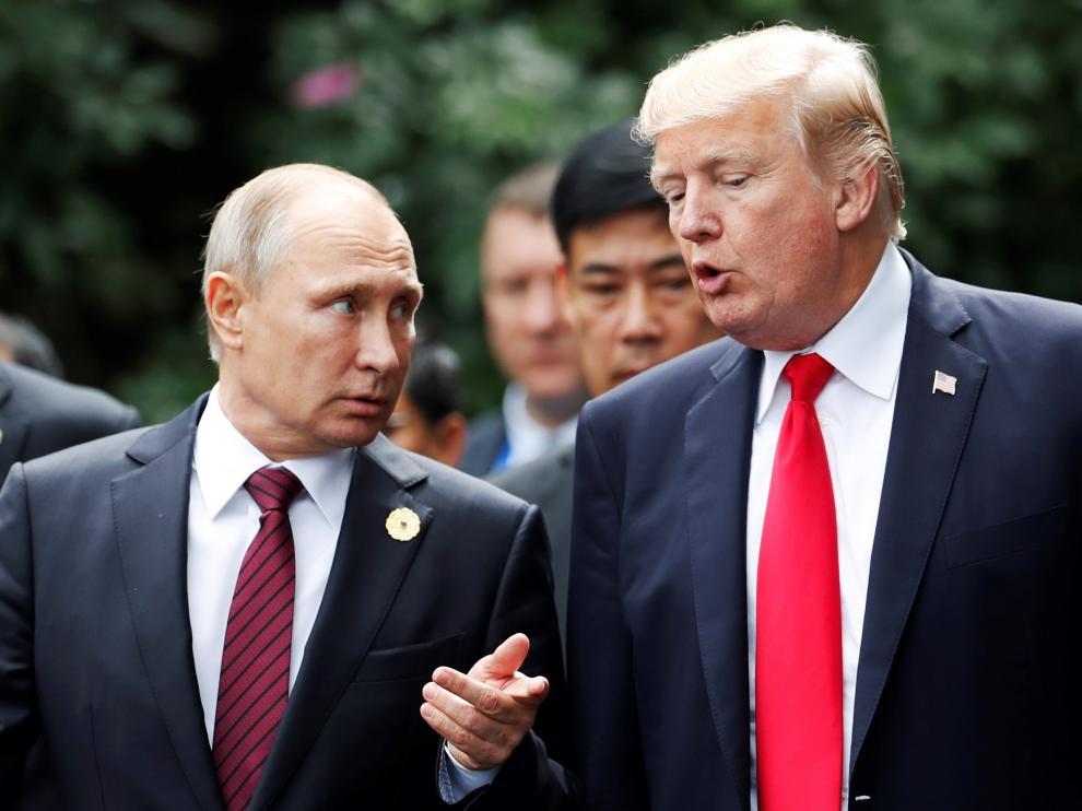 Vladimir Putin y Donald Trump, en una imagen de archivo.