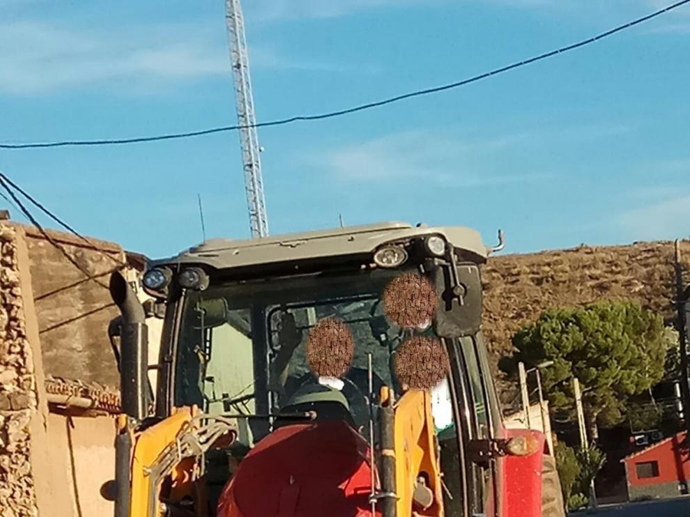 Este tractor fue robado en Pozuelo de Aragón el pasado 1 de julio.