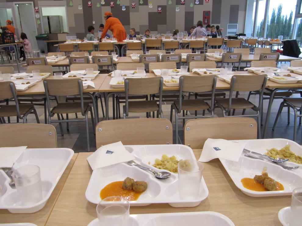 Imagen de archivo de un comedor escolar.