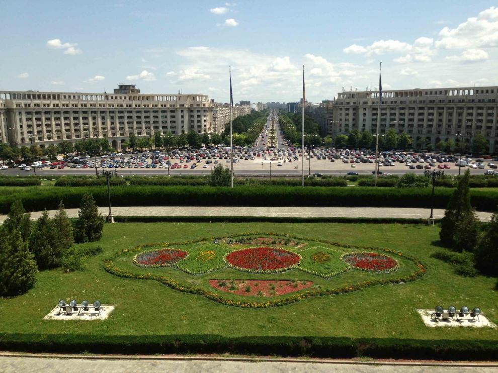 Centro de Bucarest desde el Palacio del Parlamento
